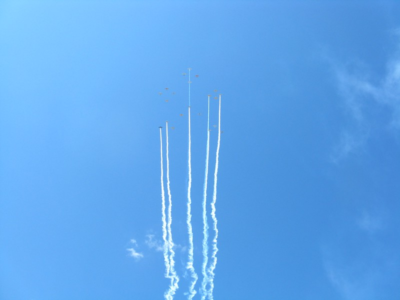 More formation flying at the airshow. There was always something flying overhead.