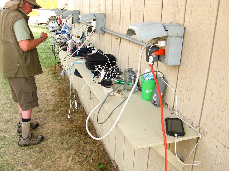 Also busy was the recharging stations. Got to keep those cell phones charged up!