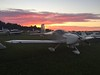 The RV-9A and a nice sunset. Welcome to Oshkosh!