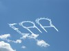 EAA written in smoke.