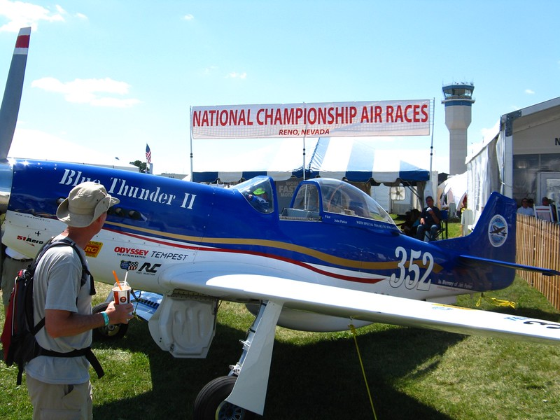 Reno air racer Blue Thunder II. We saw it race last year.