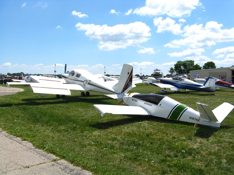 Some unusual aircraft . The Griz is a Rutan design from the 80's and the Moni is so tiny!