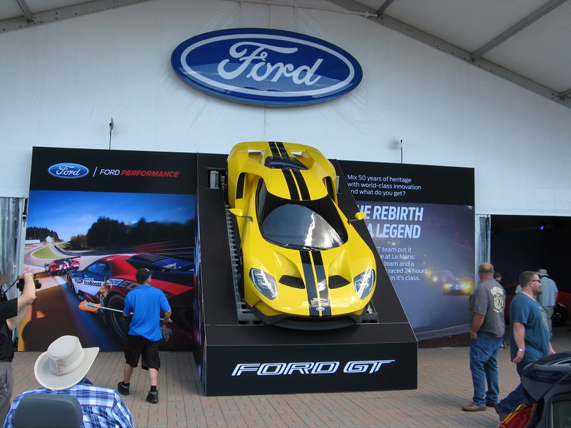 Lots of corporate sponsors. The Ford pavilion had a new GT.
