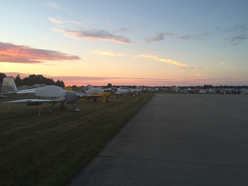Looking north. This place was huge and the Homebuilt Camping and parking was only a small portion of the airport. I was blown away with how big this event really is.