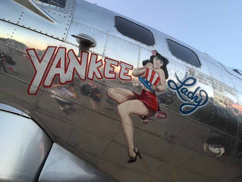 Nose art on the B-17.