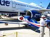 JetBlue had an Airbus on the ramp with this electric airplane.