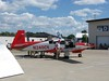 All of the airplane manufacturers had their new models on hand. This is a new Mooney.