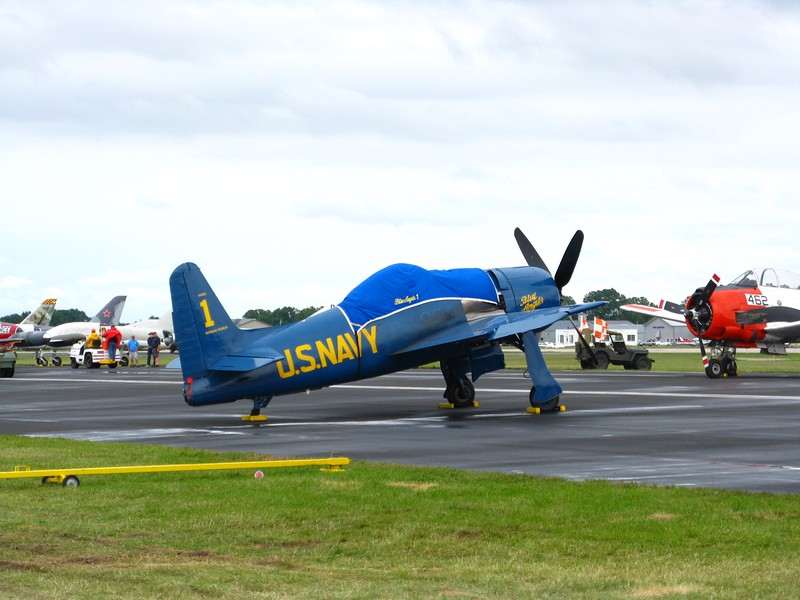 F8F Bearcat in Blue Angels livery.