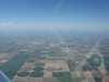 The midwest is really flat. Picture this for hundreds of miles.
