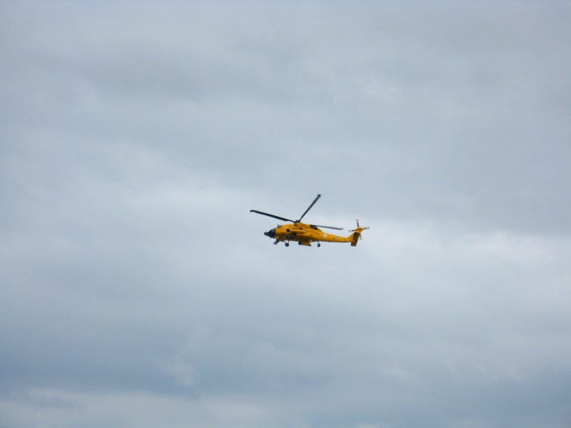 Helicopter demonstrations at the airshow.