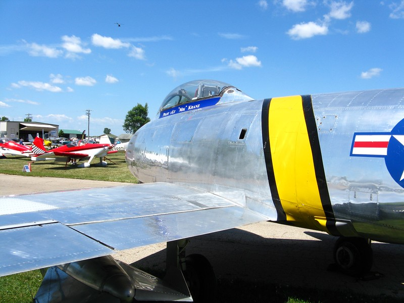 F-86 Sabre jet.