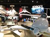 The Rutan exhibit had the VariViggen, Vari-eze, Spaceship One and a mockup of the Voyager cabin.