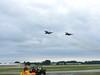 The F-4 Phantom's fly by.