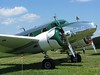 This plane was immaculately polished and had a nice green art deco paint accent.