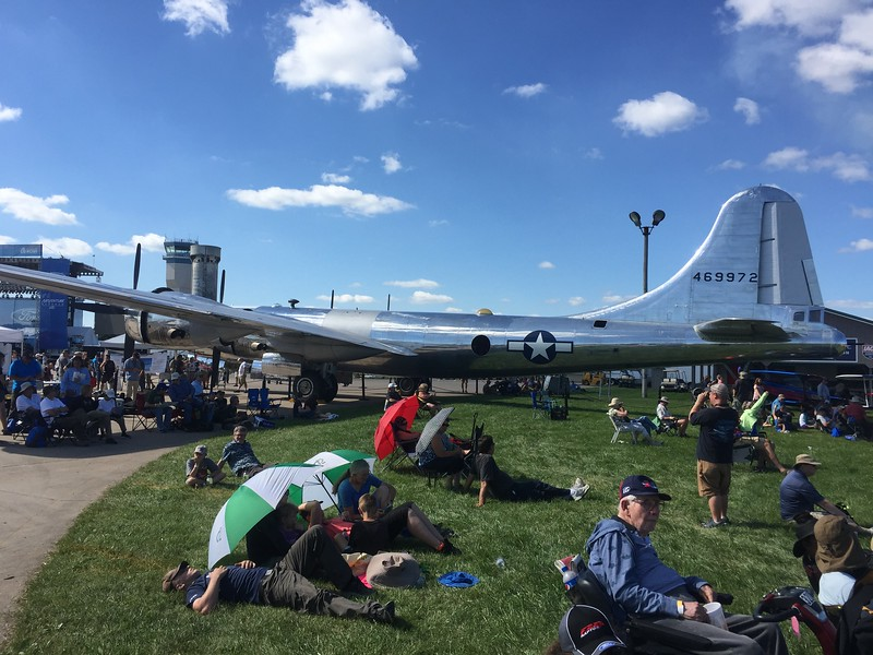 """The newly restored B-29 """"Doc""""."""