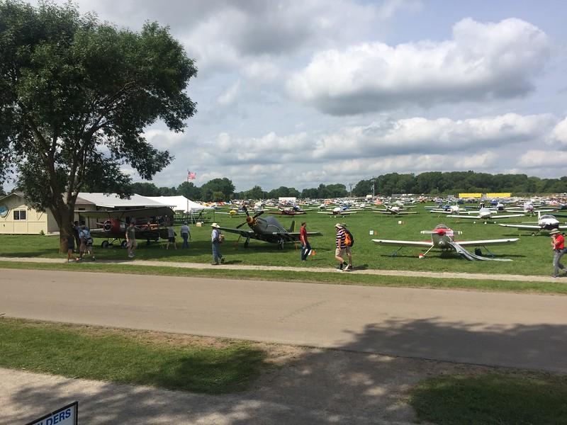 Sopwith and P-51 replica's.