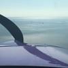 We flew towards the bridge.