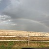 A big thunderstorm east of us created this beautiful rainbow.