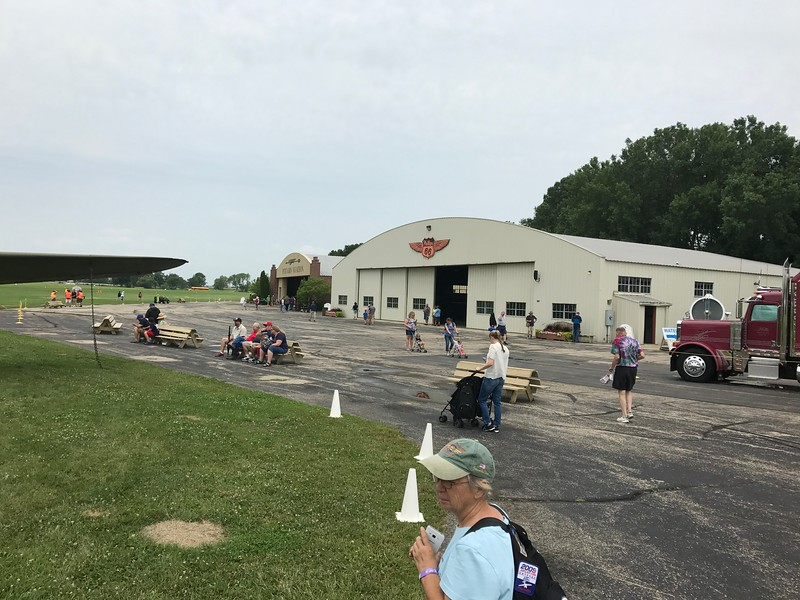 We walked around the Pioneer airfield buildings and watched the Bell helicopter flights come and go.
