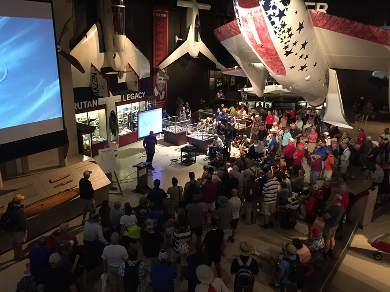 We got to hear Dick Rutan talk in the museum about the Voyager around the world unrefueled flight.