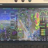 Here's what the storm looked like from the ADS-B weather display. Normally I would be aimed towards the Goffs (GFS) VOR, but not today.