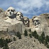 Washington, Jefferson, Roosevelt and Lincoln.