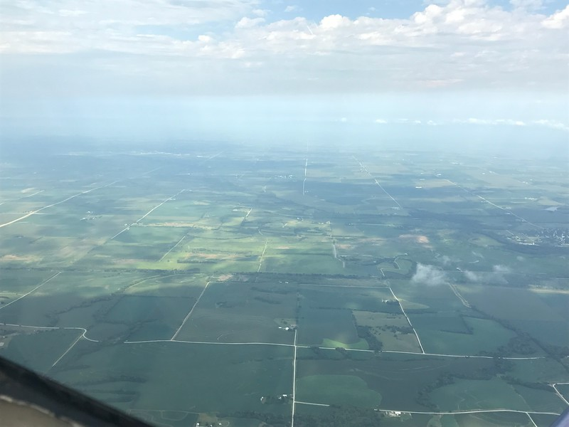 Much greener as we move from Kansas into Iowa.