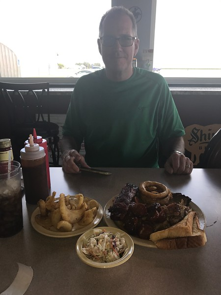 We split a 3 meat combo (with an extra rib to try). Way too much food!