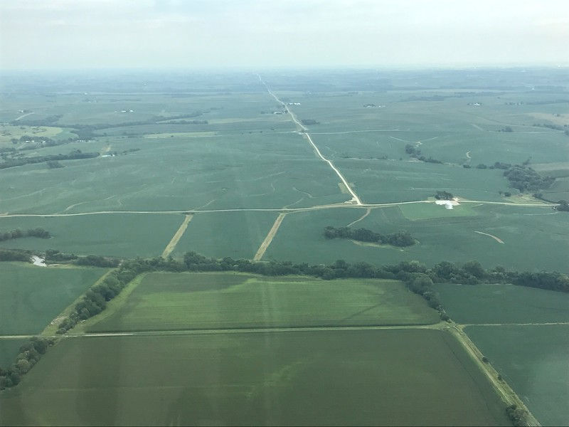 Miles and miles of corn in Iowa.