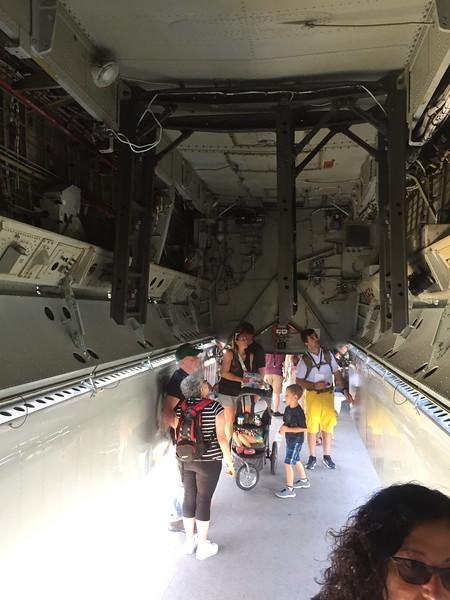 Huge bomb bay in the B-52.