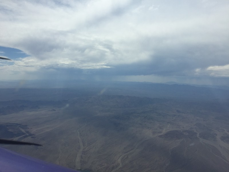 The air got smoother as I crossed into Nevada. I climbed up to get into cooler air. This big storm was just west of Las Vegas.