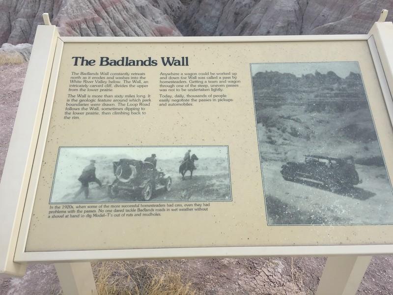 We drove the Badlands loop road.