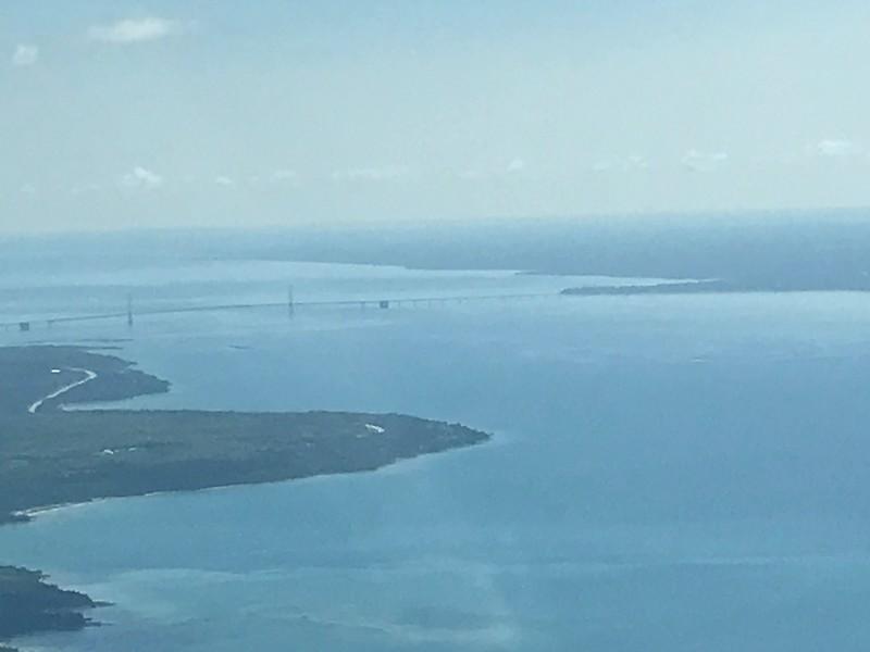Getting close to Mackinac Island and the Bridge.