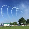We headed back to the airplane, got out the folding chairs and sat down to watch the air show.