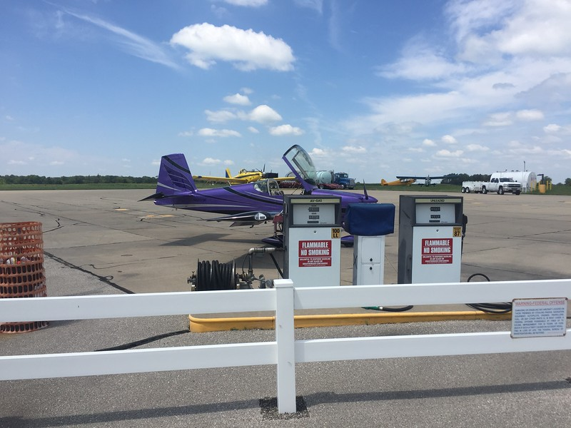 We stopped for gas at Vinton Memorial Airport in Iowa.
