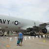 Back to the plaza to see what else has shown up. This is a Navy P-8 Poseidon.