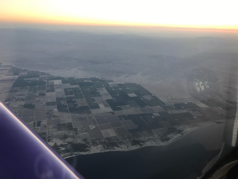 Mecca and Thermal farmland north of Salton Sea.