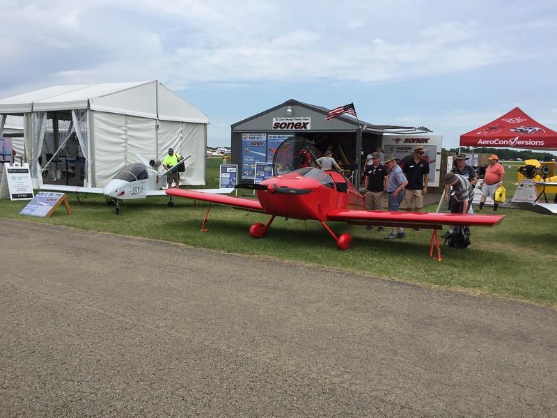 The Sonex display had another Sub-sonex jet.