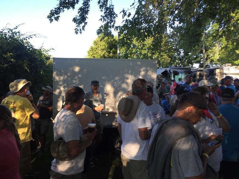 Got to meet up with a number of folks at the RV beer bash.