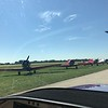 Taxiing past the T-6's.