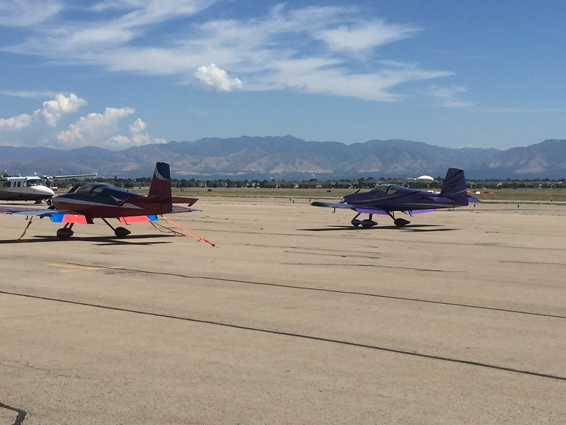 Parked next to a beautiful RV-7A.