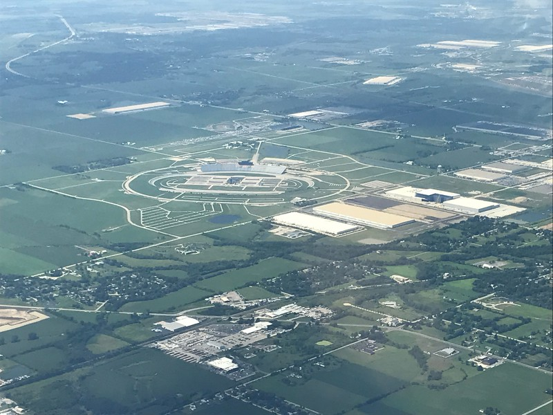 Chicagoland Speedway near Joliet.