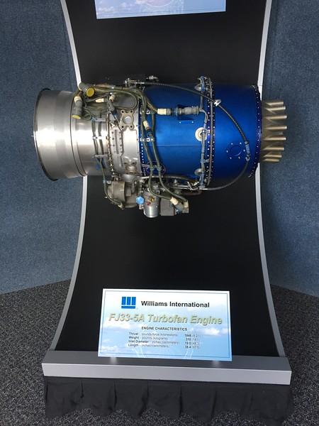 Williams jet engine display.