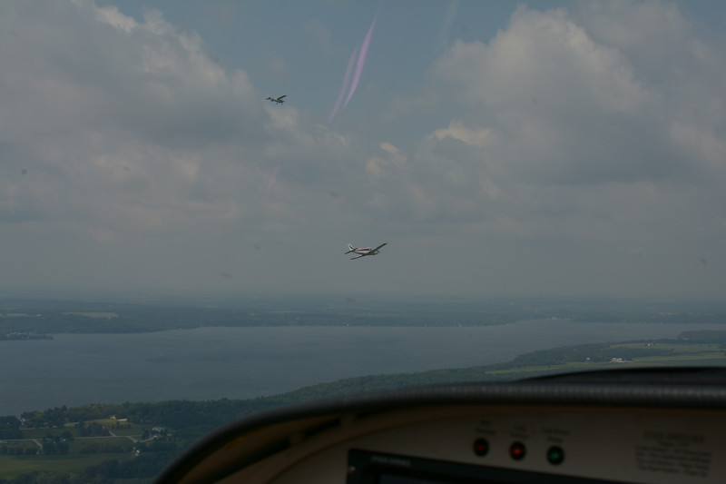 Green Lake on the Oshkosh VFR arrival procedure. Lots and lots of airplanes in the skies, so keep looking out.
