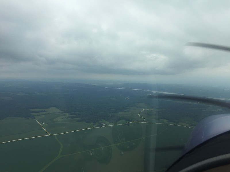 Approaching the Mississippi River.