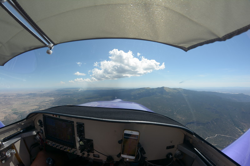 Some clouds just starting to build up over New Mexico.