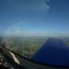 Very flat over Iowa. Lots of wind farms.