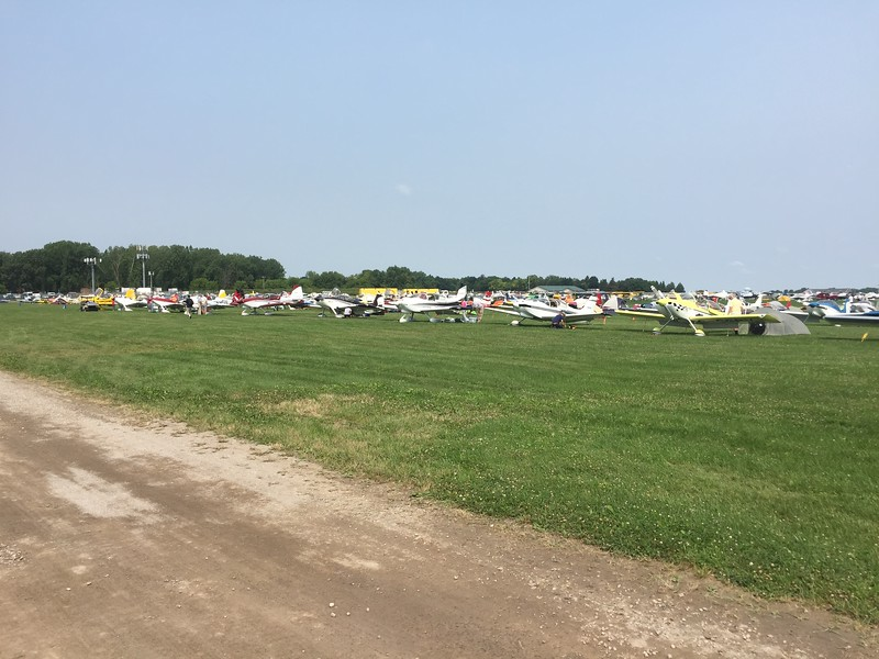 Looking back over Homebuilt camping. We were parked over by the cell phone towers on the left.