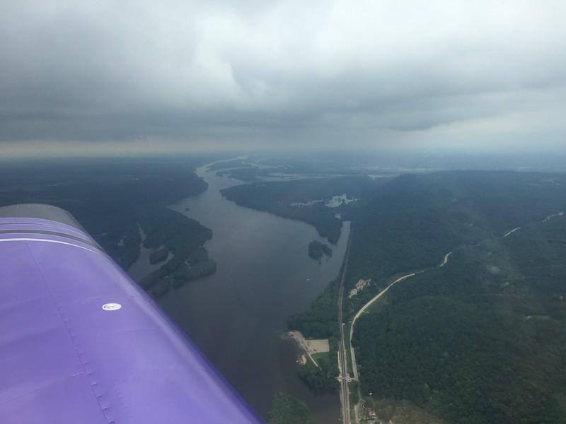 Over the Mississippi.