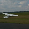 We ended up diverting to Wautoma since it was a total crapshoot trying to get into Oshkosh on Sunday afternoon. This poor Cessna had a hard landing and broke the gear at Wautoma. No one was hurt.